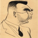 Шарж на отца, 1937 год
